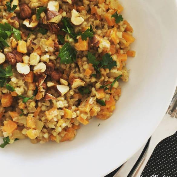 Sarrasinotto aux carottes et noisettes