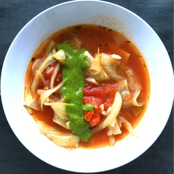 Soupe fenouil tomate