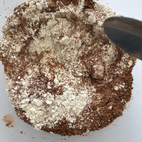Gateau chocolat courgette étape 2