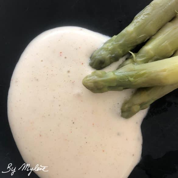 Sauce mousseline légère pour asperges