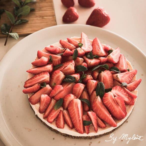 Cheesecake fraises sans cuisson